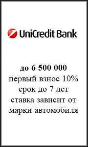 автокредит Юникредит Банк
